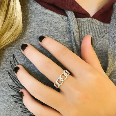 Chelsea Chain Link Diamond Ring