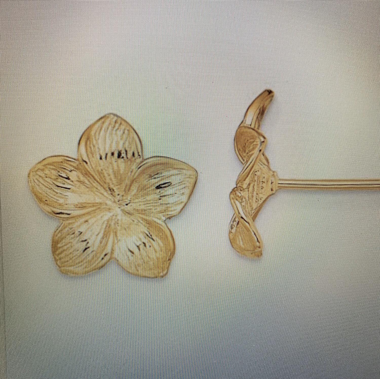 Plumeria Floral Earrings