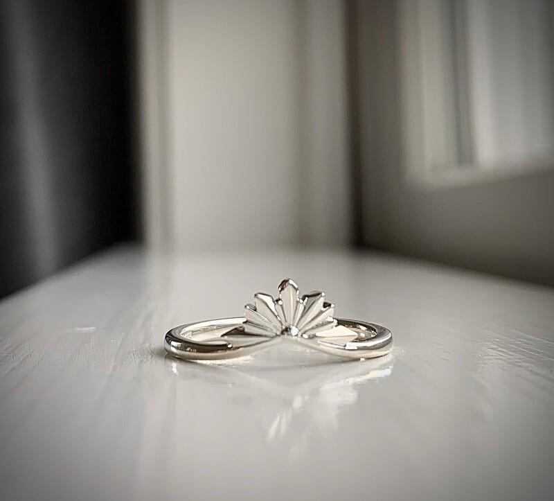 Sunburst Stackable Crown Ring
