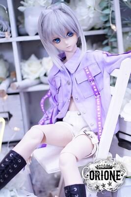 [DD S/M/L Bust] Maxine Denim Jacket - Purple