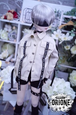 [DD S/M/L Bust] Maxine Denim Jacket - White