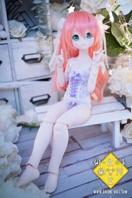 [MDD] Lingerie Set Sophie - White Lavender