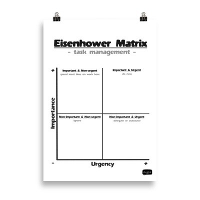 Eisenhower Matrix Poster for Task Management