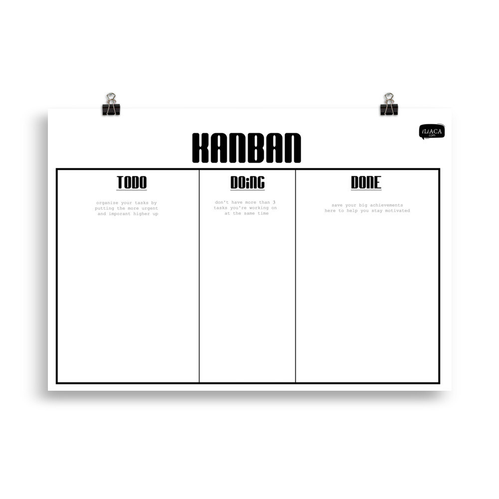 Kanban Poster for Task Management