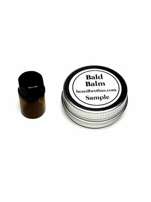 Bald Head Balm and Beard Oil Sample