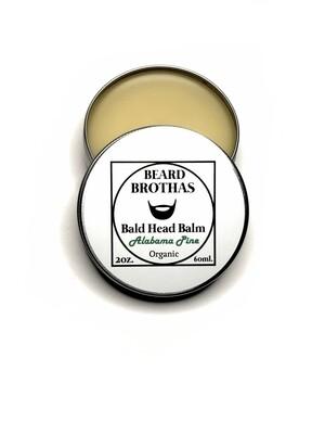 Premium Organic Bald Head Balm Moisturizer. Alabama Pine Scent.
