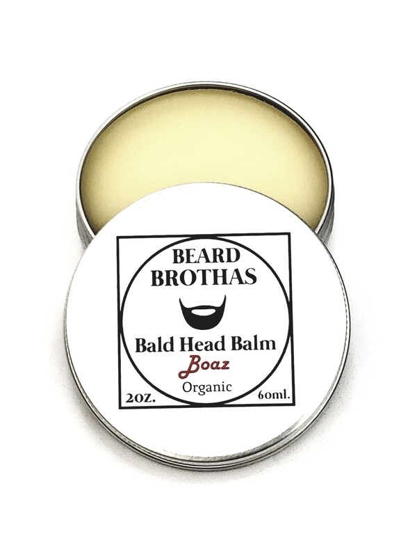 Beard Brothas Premium Bald Head Balm Moisturizer. Boaz Scent.