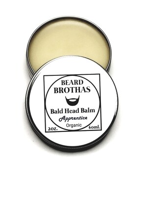Premium Organic Bald Head Balm Moisturizer. Apprentice Scent.