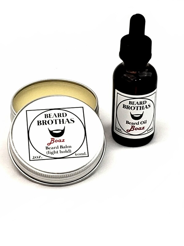 Beard Brothas Beard Oil and Balm Set. Boaz Scent.