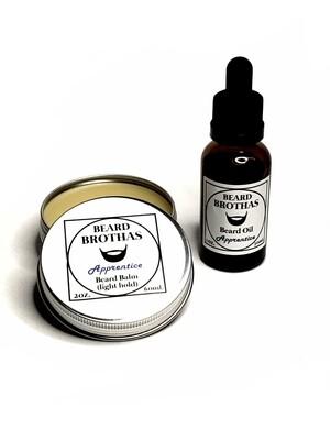 Beard Brothas Beard Oil and Balm Set. Apprentice Scent.