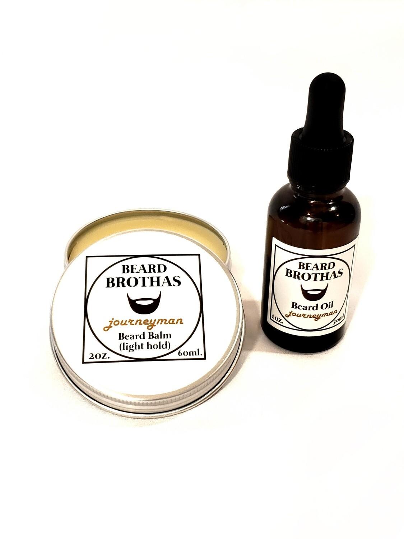 Beard Brothas Beard Oil and Balm Set. Journeyman Scent.