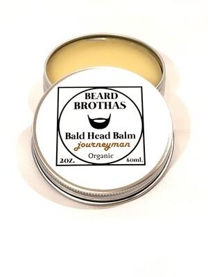 Premium Organic Bald Head Balm Moisturizer. Journeyman Scent.