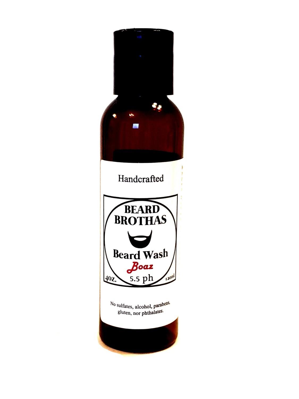 Beard Brothas Beard Wash. Sulfate Free. Boaz Scent