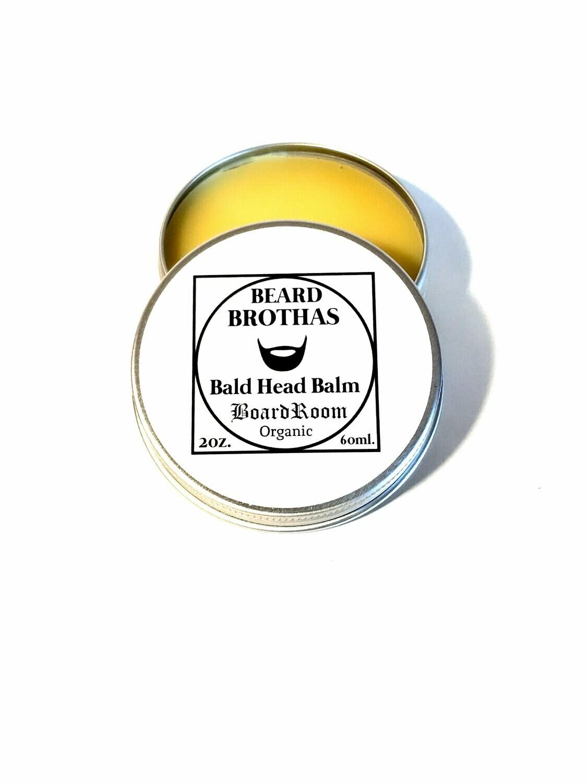 Premium Organic Bald Head Balm Moisturizer. Board Room Scent.