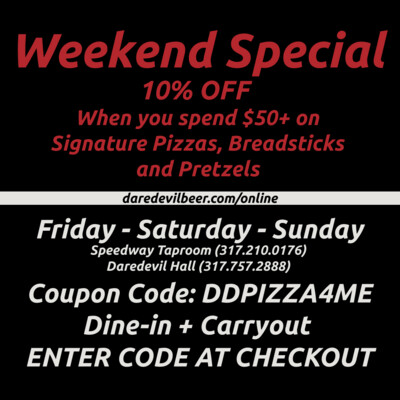 Weekend Pizza Coupon