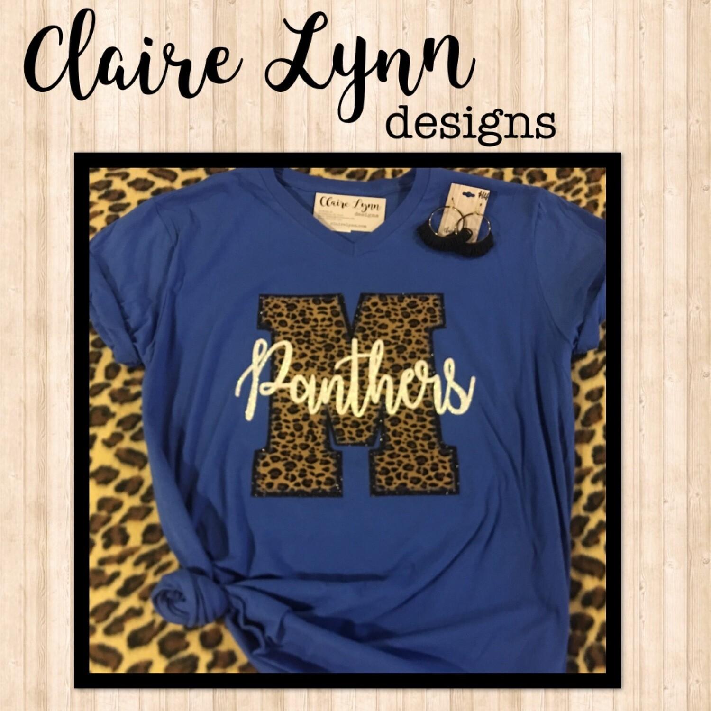 Cheetah Letter spirit tee