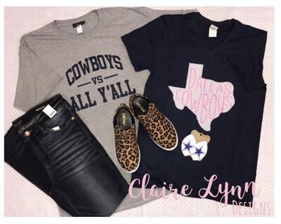 Appliqué Dallas Cowboys Pink