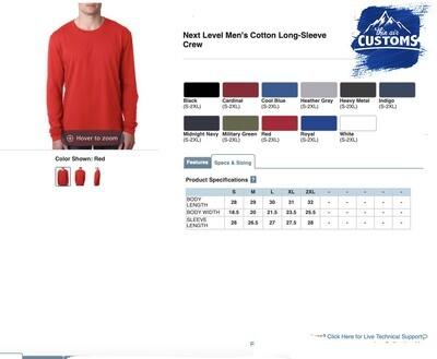 Men's Long Sleeve Cotton