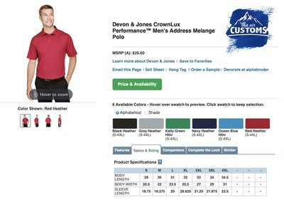 Men's Crown Luxe Polo Short Sleeve - multiple colors