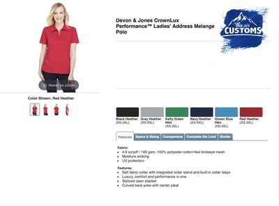 Women's Crown Luxe Polo Short Sleeve - multiple colors