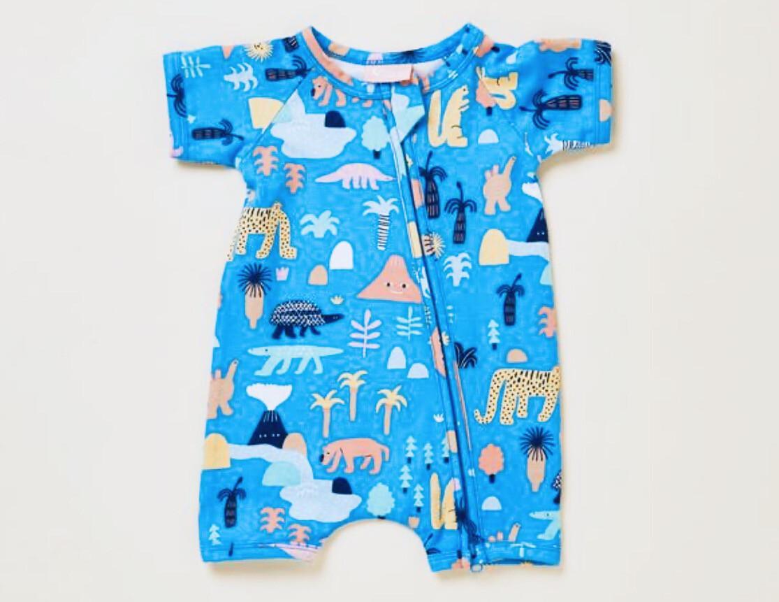 Short Sleeve Zip Sleepsuit
