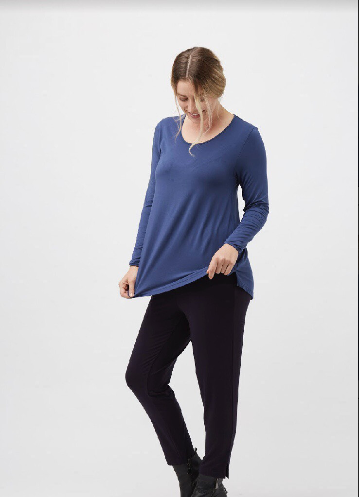 Split Hem Long Sleeve Top