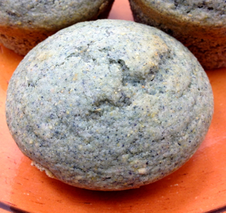 Blue Corn Muffin with Green Chile