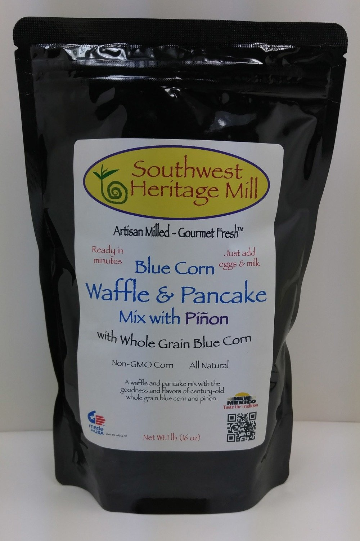 Blue Corn Waffle with Pinon