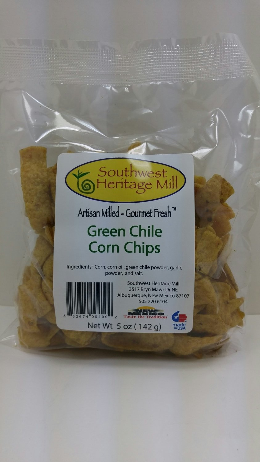 Green Chile Corn Chips