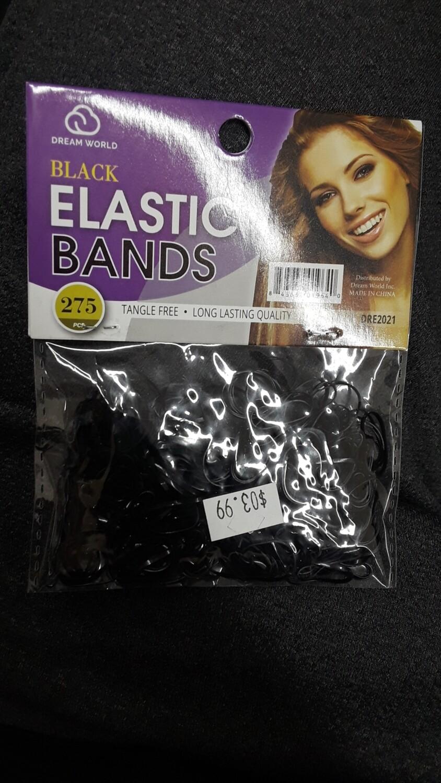 Black Elastic Bands 275 pcs