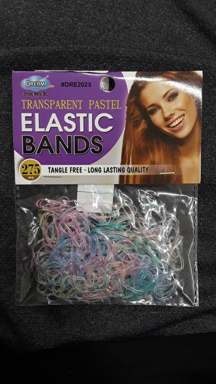 Transparent Pastel Elastic Bands 275 Pcs