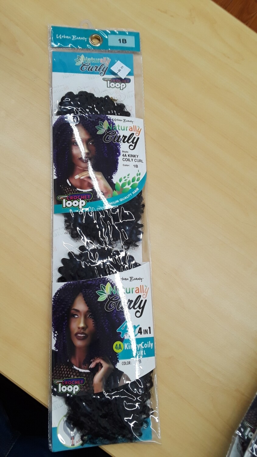 Naturally Curly 4A Kinky Coily Curl Color:1B