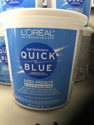 loreal technique high performance quick blue power bleach extra strength