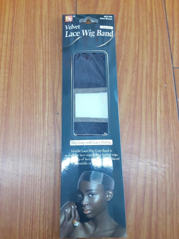 Velvet Lace Wig Band Non Slip Dark Brown #02199