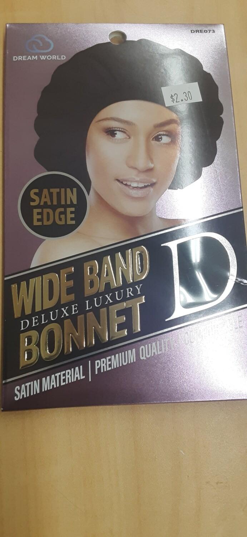 Satin Edge Wide Band Bonnet