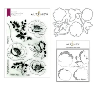 ALTENEW WALLPAPER ART STAMP, DIE AND COLORING STENCIL BUNDLE