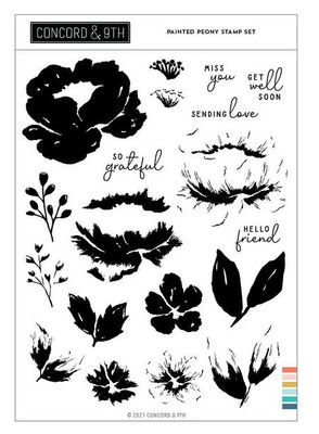 CONCORD & 9TH PAINTED PEONY STAMP AND DIE SET