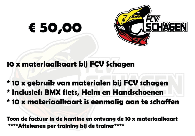 10x materiaalkaart bij FCV Schagen e.o.