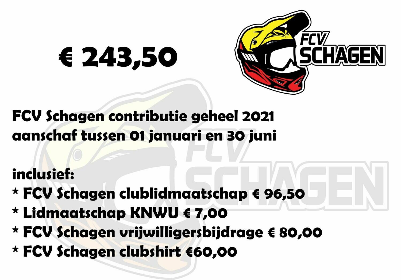 Lidmaatschap FCV Schagen e.o. 1 januari t/m 31 december