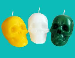 Skull small blue