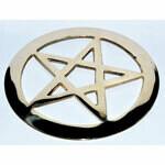 """Brass cut out Pentagram 4"""""""