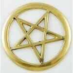 Brass Cut Out Pentagram 3""