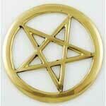 Brass Cut Out Pentagram 3