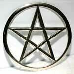 "Pentagram altar tile 5.75"" cut out"