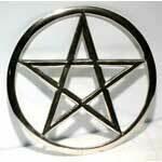 Pentagram altar tile 5.75