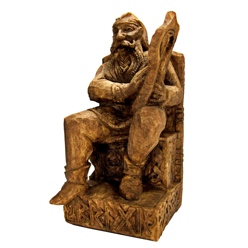 Seated Bragi Statue