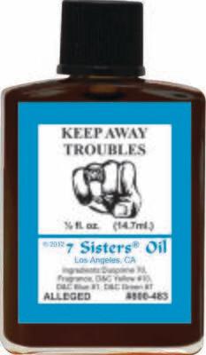 Keep Away Trouble oil 7sis