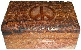 Wood Box Peace 4x6