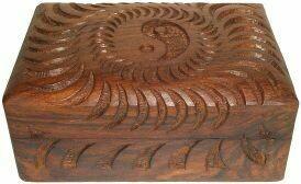 Wood Box Yin Yang 4x6