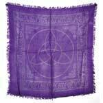 Triquetra purple 18x18 altar cloth